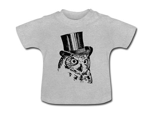 bollengut_Schwarzwald_T-Shirt_eule-mit-zylinder-baby-t-shirt