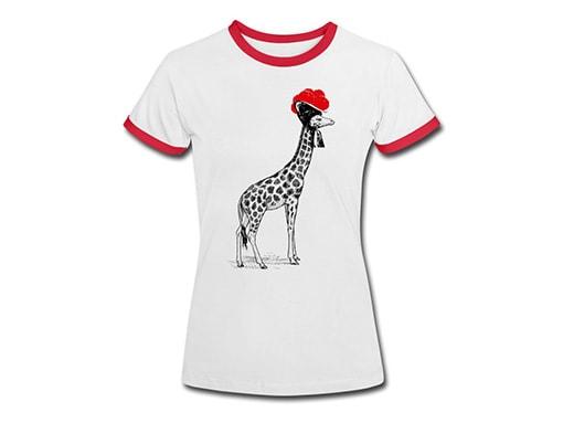 bollengut_Schwarzwald_T-Shirt_giraffe-mit-bollenhut-frauen-kontrast-t-shirt