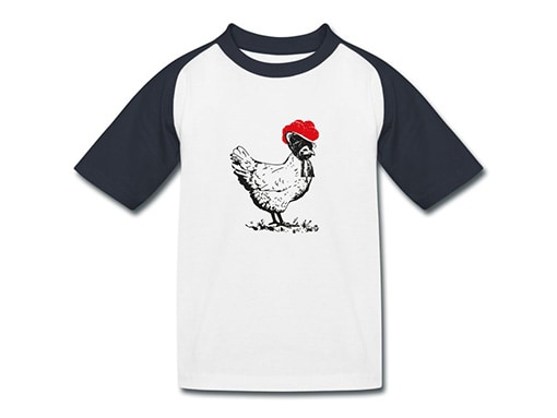 bollengut_Schwarzwald_T-Shirt_huhn-mit-bollenhut-kinder-baseball-t-shirt