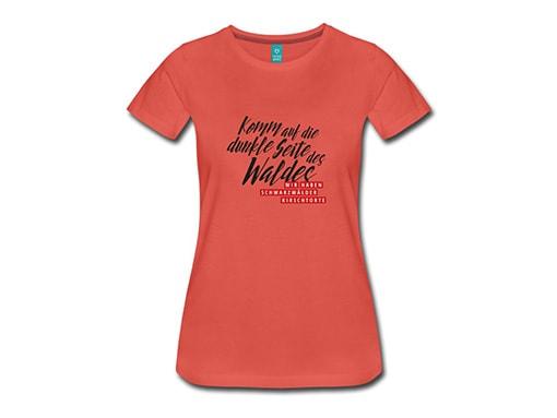 bollengut_Schwarzwald_T-Shirt_komm-auf-die-dunkle-seite-des-waldes-wir-haben-frauen-premium-t-shirt