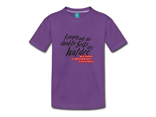 bollengut_Schwarzwald_T-Shirt_komm-auf-die-dunkle-seite-des-waldes-wir-haben-teenager-premium-t-shirt