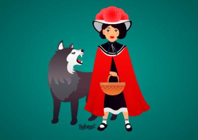 Rotkäppchen und der Böse Wolf im Schwarzwald