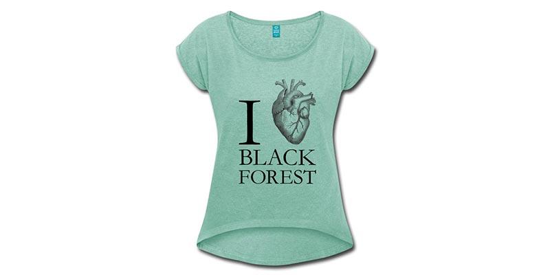 bollengut_i-love-black-forest-frauen-t-shirt-mit-gerollten-aermeln