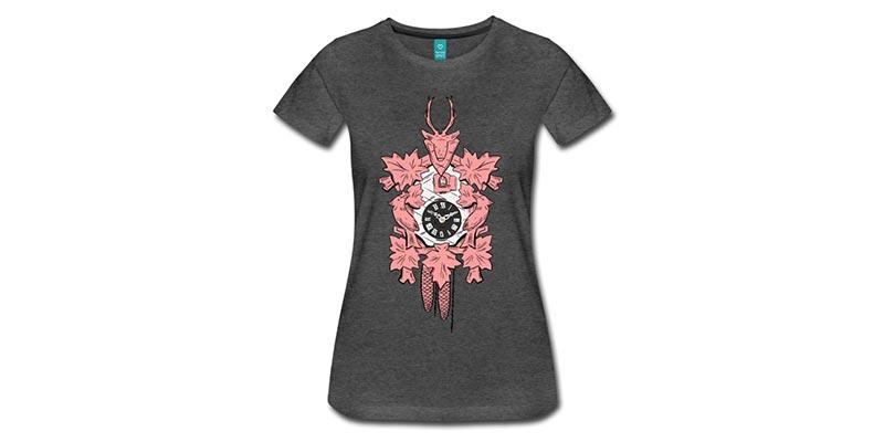 bollengut_schwarzwaelder-kuckucksuhr-frauen-premium-t-shirt_2