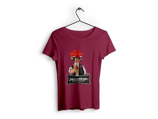 """Schwarzwald T-Shirt: Schwarzwaldmädel """"Birgit"""" mit Bier"""