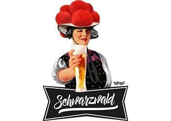"""Schwarzwaldmädel """"Birgit"""" mit Bier"""