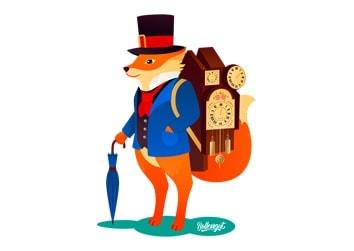 Schwarzwälder Uhrenträger Fuchs