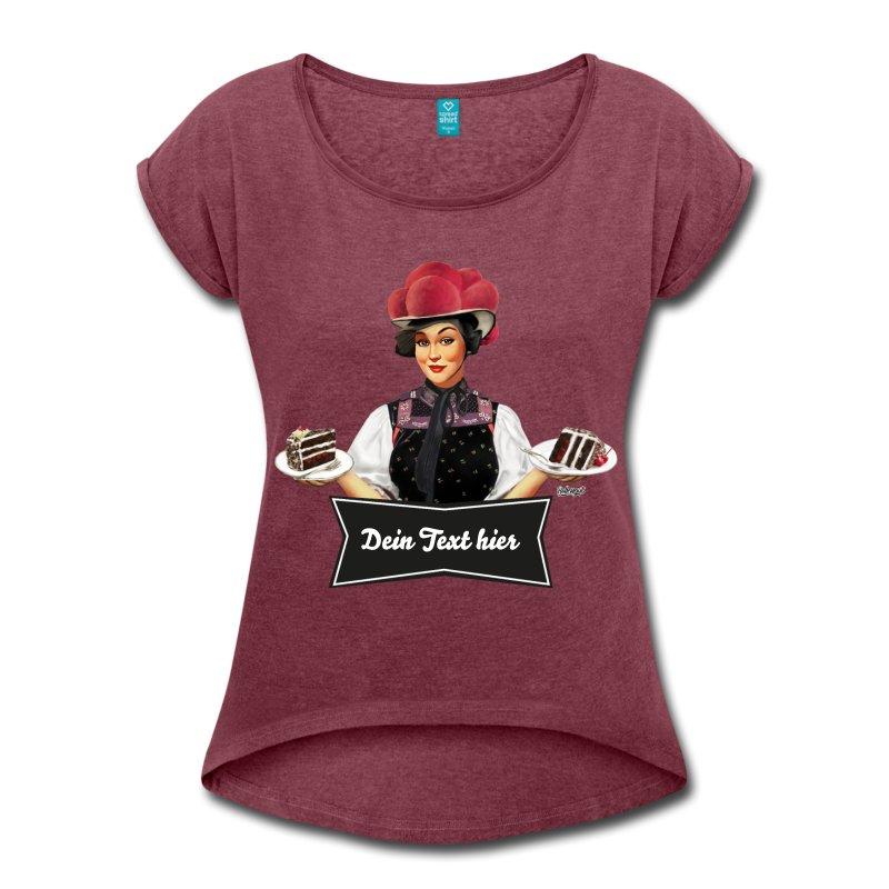 """Schwarzwald T-Shirt: Schwarzwaldmädel """"Anna"""" – dein eigener Text"""