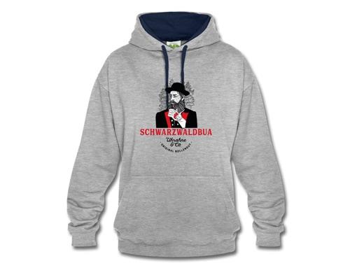 """Schwarzwald Hoodie: Schwarzwaldbua """"Hannes"""" Uhrahne"""