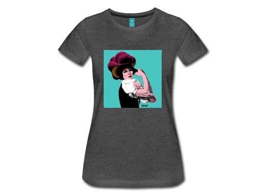 """Schwarzwald T-Shirt: """"Rosi"""" Pop Art"""