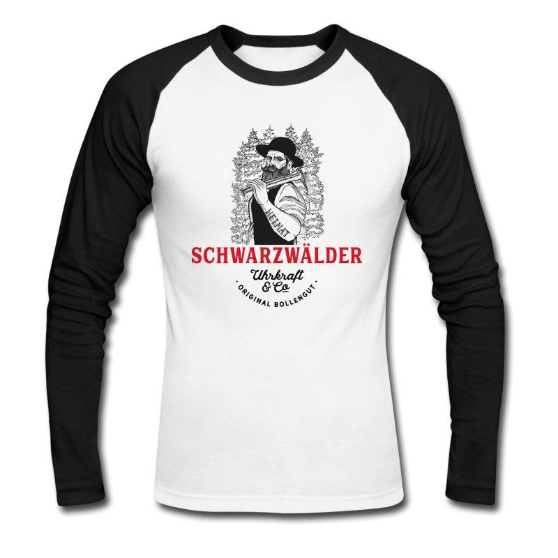 schwarzwaelder-michel-uhrkraft-maenner-baseballshirt-langarm