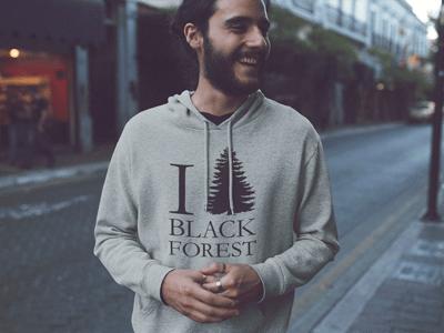 Schwarzwald Hoodie:  I love Black Forest