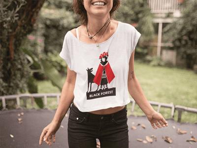 Schwarzwald T-Shirt: Schwarzwälder Rotkäppchen