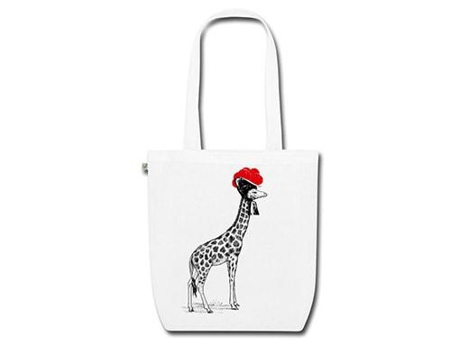 Schwarzwald Tasche: Giraffe mit Bollenhut