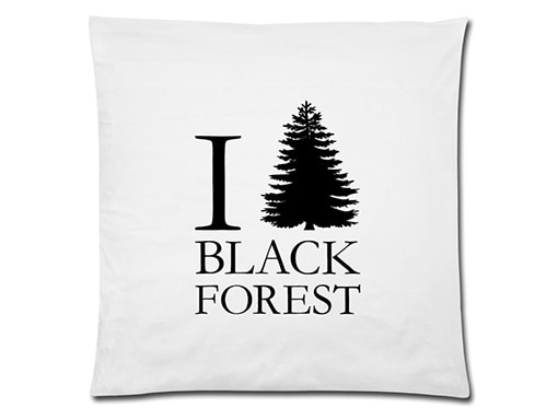 Schwarzwald Kissen: I love Black Forest