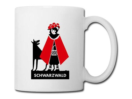 Schwarzwald Tasse: Schwarzwälder Rotkäppchen