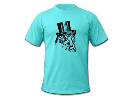 Schwarzwald T-Shirt: Eule mit Zylinder