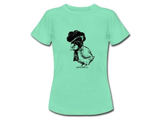 Schwarzwald T-Shirt: Küken mit Bollenhut, schwarz