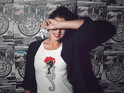 Schwarzwald T-Shirt: Seepferdchen mit Bollenhut