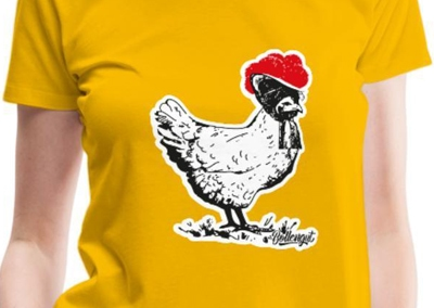 Huhn mit Bollenhut