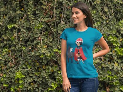 Schwarzwald T-Shirt: Rotkäppchen und der Böse Wolf im Schwarzwald