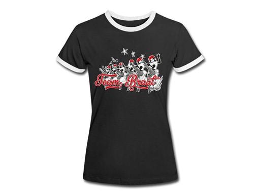"""Schwarzwald T-Shirt: Schwarzwaldmädle Junggesellenabschied """"Team Braut"""""""
