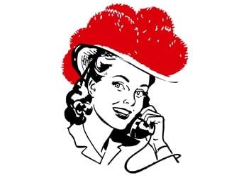 Schwarzwaldmädle am Telefon