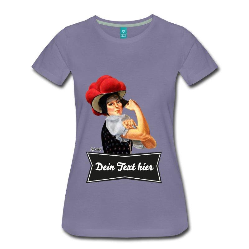 """Schwarzwald T-Shirt:Schwarzwaldmädel """"Rosi"""" – dein eigener Text"""