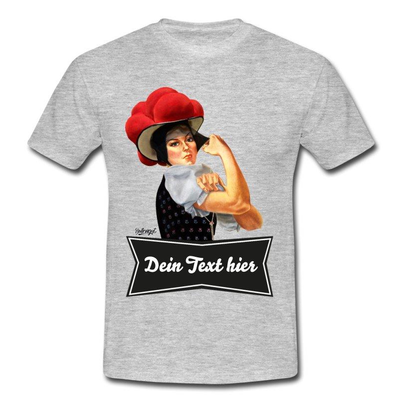 """Schwarzwald T-Shirt: Schwarzwaldmädel """"Rosi"""" – dein eigener Text"""