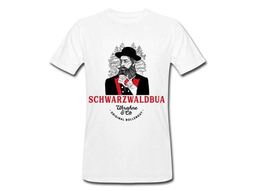 """Schwarzwald T-Shirt: Schwarzwaldbua """"Hannes"""" Uhrahne"""