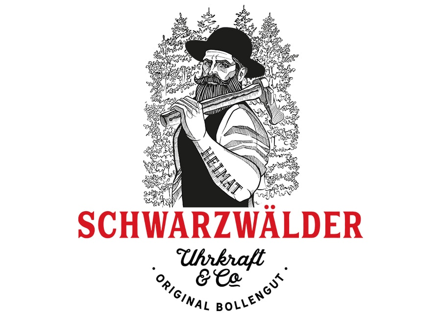 "Schwarzwälder ""Michel"" Uhrkraft rot"