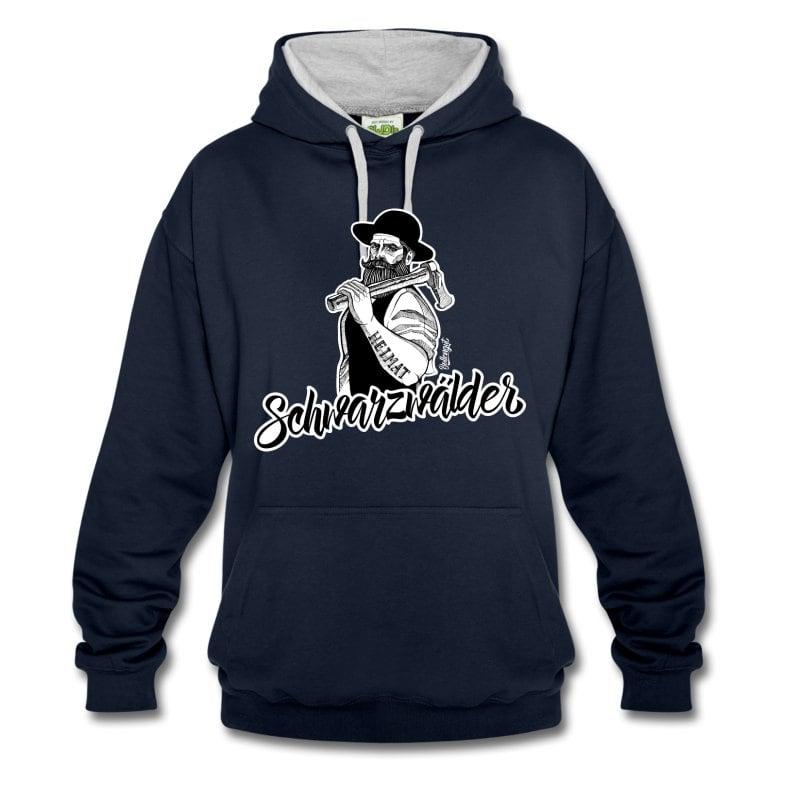 schwarzwaelder-michel-kontrast-hoodie
