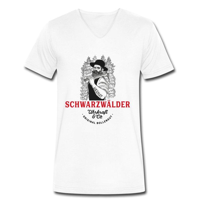 schwarzwaelder-michel-uhrkraft-maenner-bio-t-shirt-mit-v-ausschnitt-von-stanley-stella