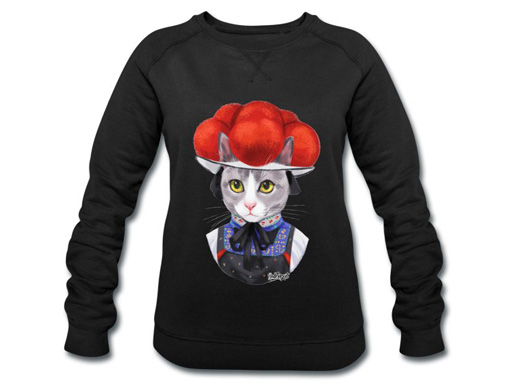 "Katze ""Tessi"" mit Bollenhut Pullover"