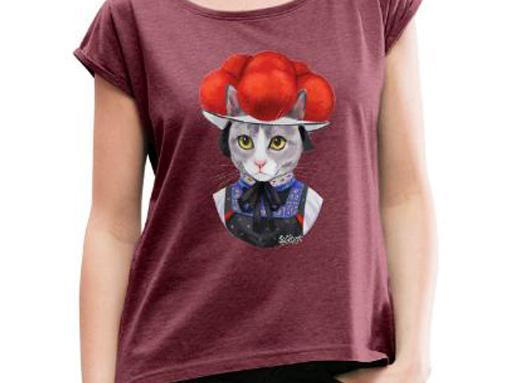 """Katze """"Tessi"""" mit Bollenhut T-Shirt"""