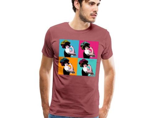 """Schwarzwaldmädel """"Rosi"""" Pop Art 4er Grid T-Shirt"""