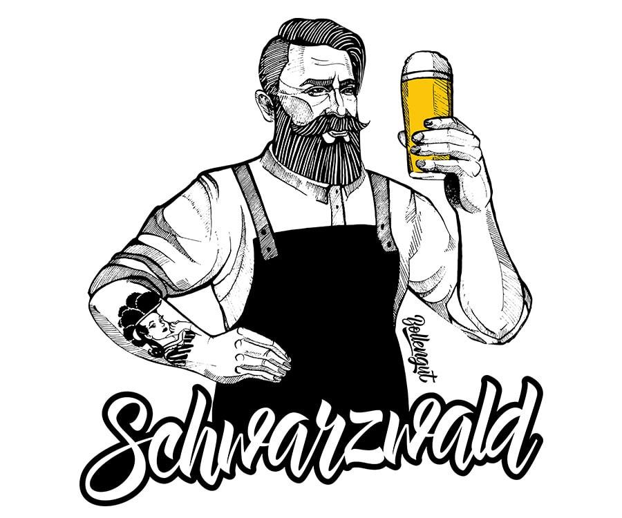 Schwarzwald Albert Bierbrauer ohne Kontur