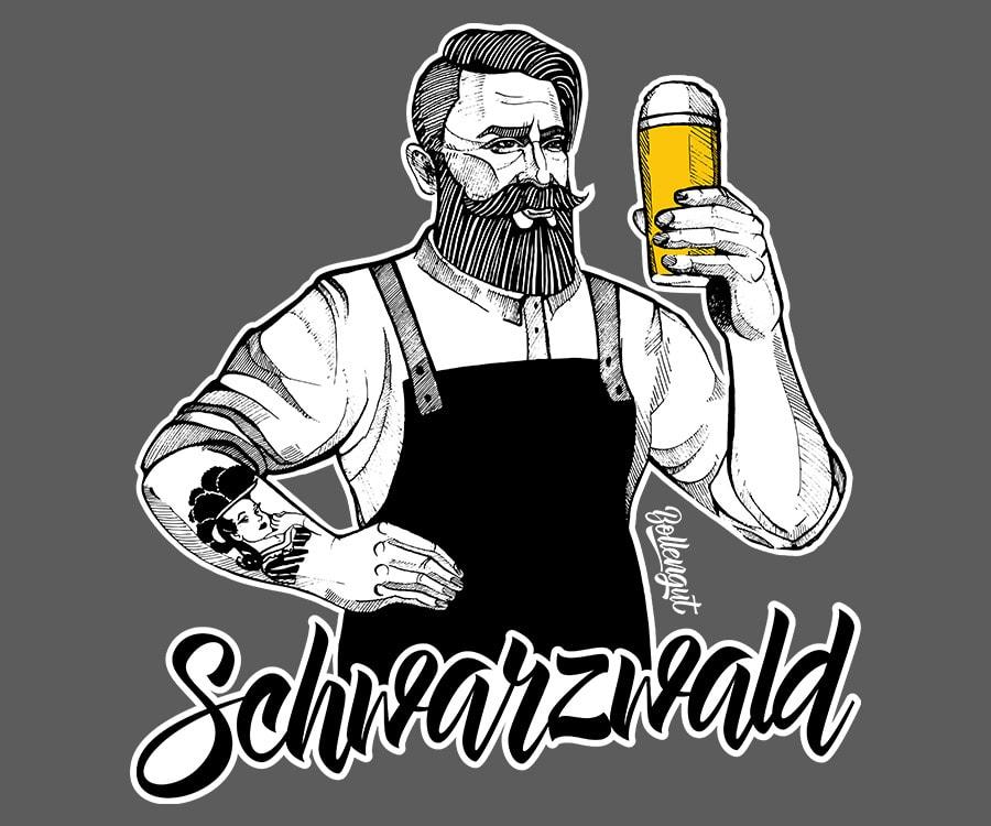 Schwarzwald Bierbrauer Albert mit Kontur