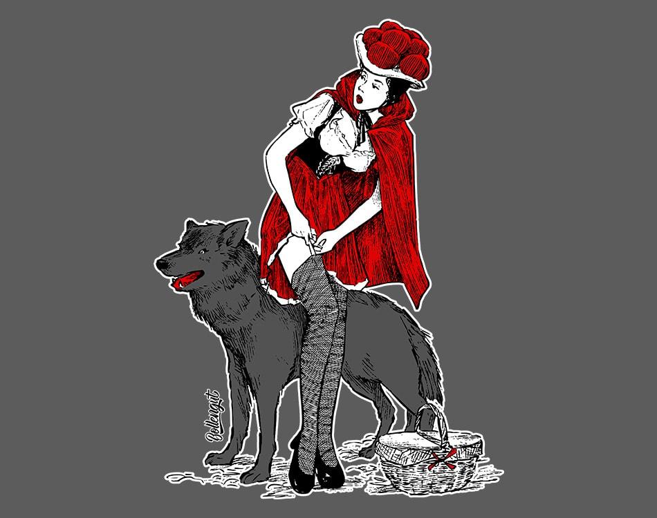 Rotkäppchen Elli und der Wolf