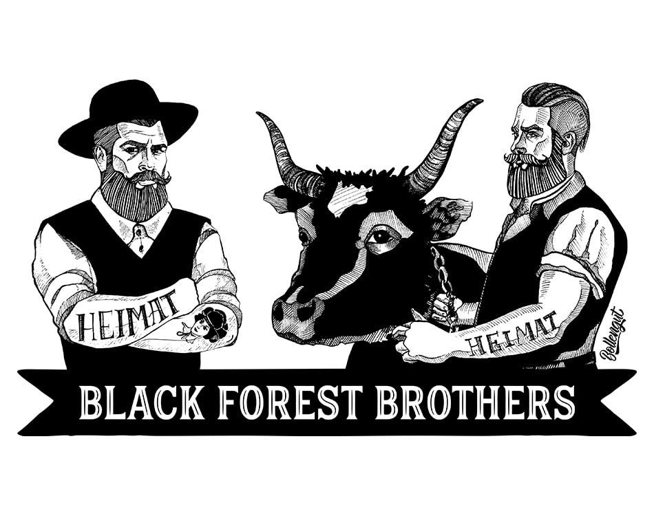 """Black Forest Brothers Schwarzwälder """"Hippolyt"""" und Bauer"""