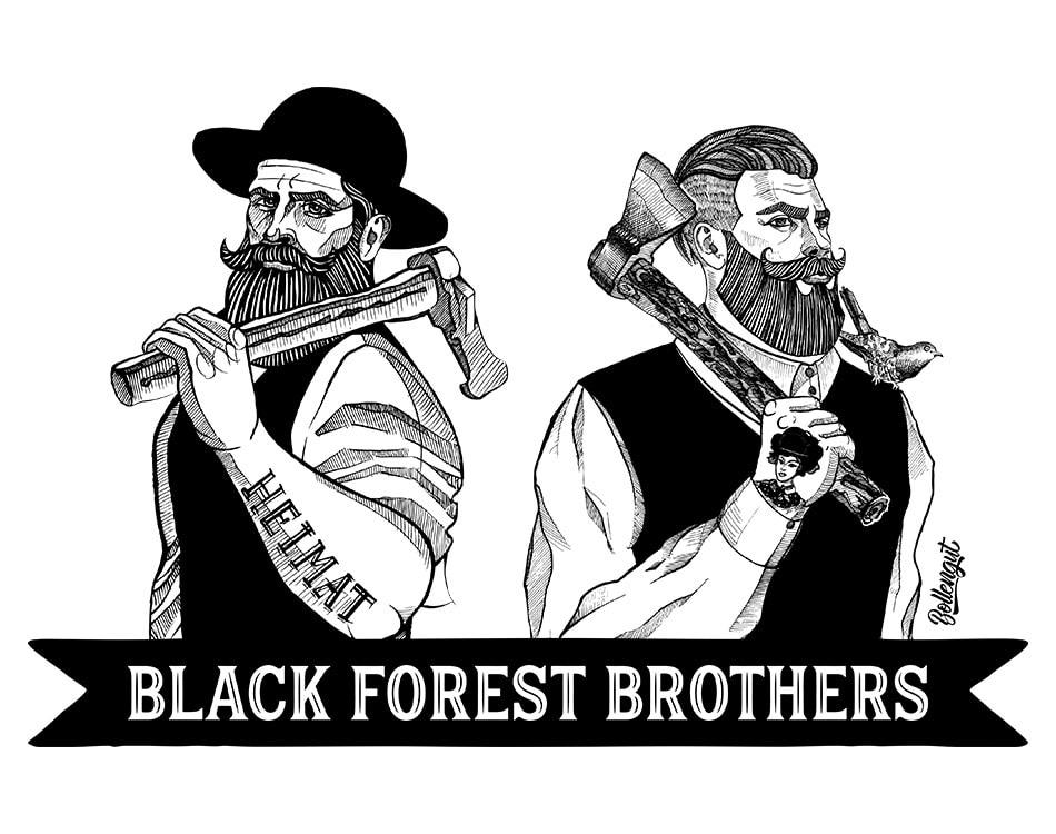 """Black Forest Brothers Schwarzwälder """"Michel"""" und """"Korbinian"""""""