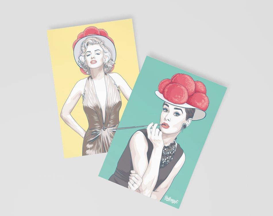 Bollengut_Postkarten_Audrey_Marilyn