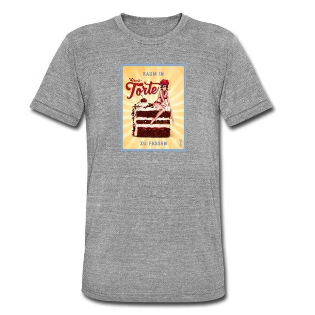 Bollengut_Schwarzwaldmaedel_Kirsti_Kaum_in_Torte_zu_fassen_Maenner_T-Shirt
