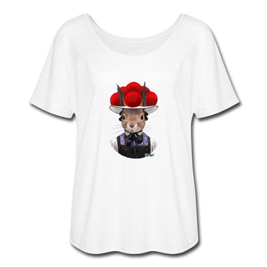Bollengut_Eichhoernchen_Erika_mit_Bollenhut_Frauen_T-Shirt